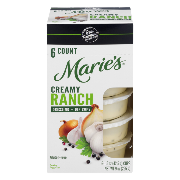 Marie's Dressing + Dip Cups Ranch - 6 ct