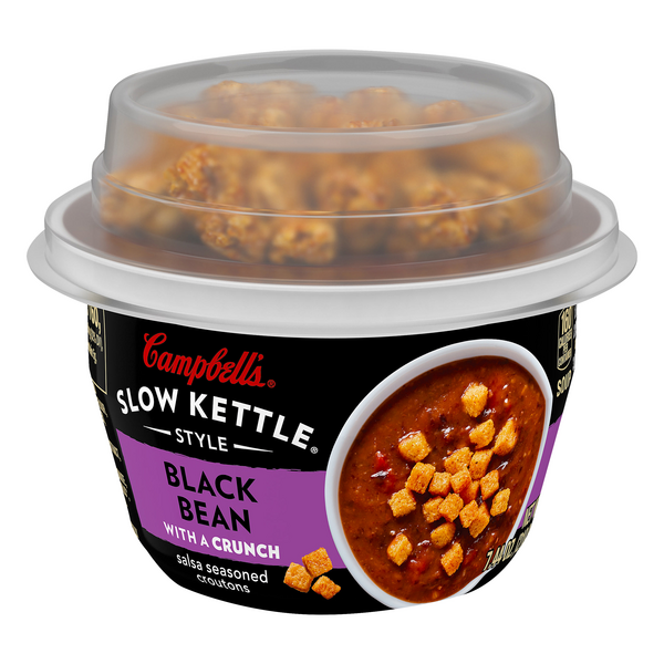 Campbell's Slow Kettle Style Black Bean Soup with a Crunch
