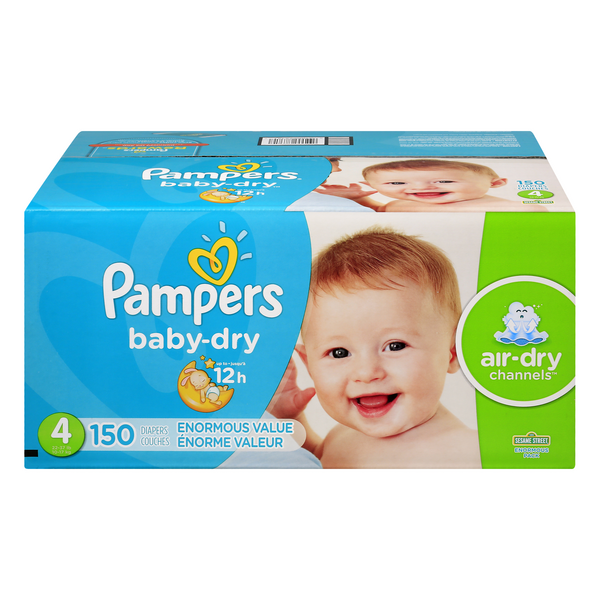 Pampers Baby Dry Size 4 Diapers 22-37 lbs
