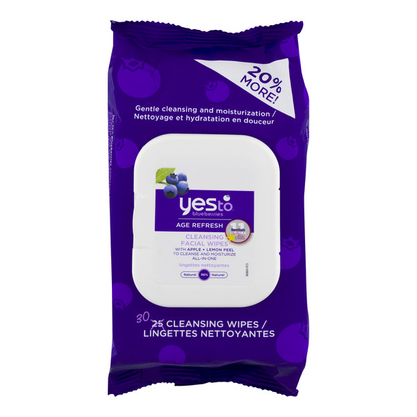 Yes To Blueberries Age Refresh Cleansing Facial Wipes