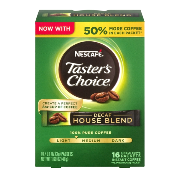 Nescafe Taster's Choice House Blend Instant Coffee Decaf Packets - 16 ct