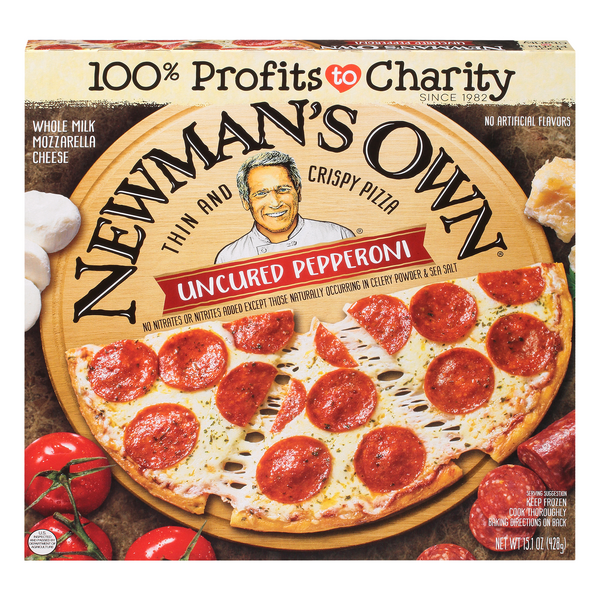 Newman's Own Thin & Crispy Pizza Uncured Pepperoni