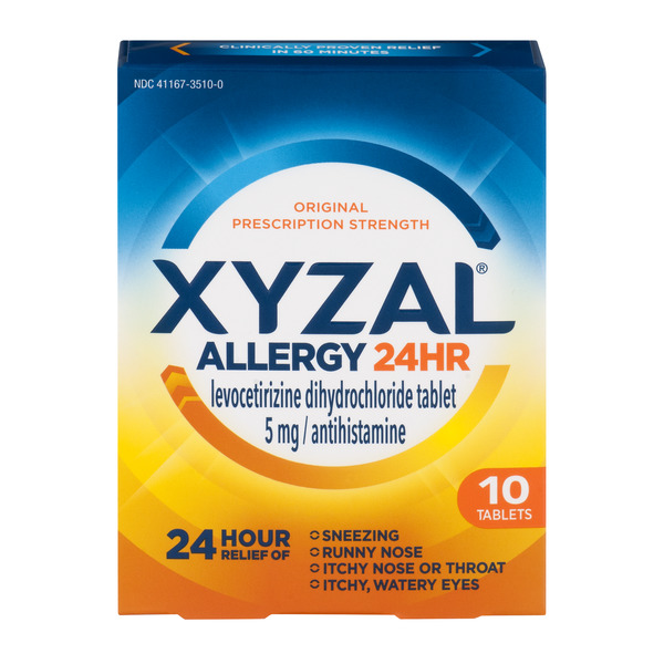 Xyzal Allergy 24HR Relief Tablets