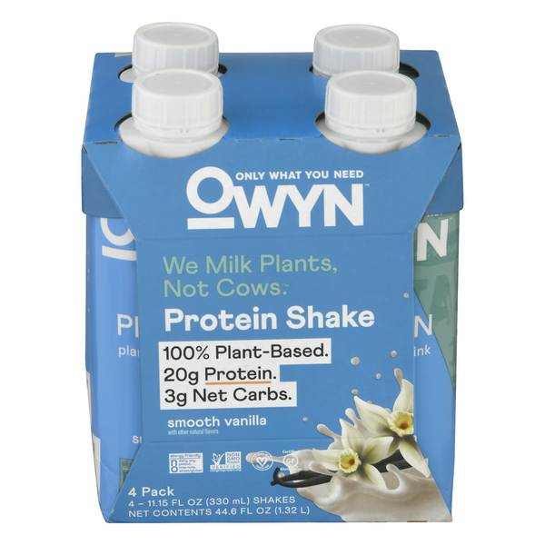 OWYN Plant-Based Protein Smooth Vanilla - 4 pk