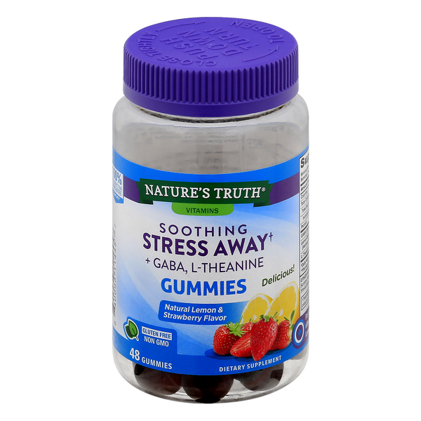 Nature's Truth Stress Away Gummies Natural Lemon & Strawberry Flavor
