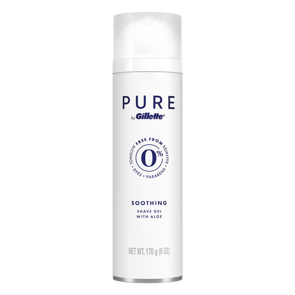 Pure by Gillette Soothing Shaving Gel with Aloe For Men