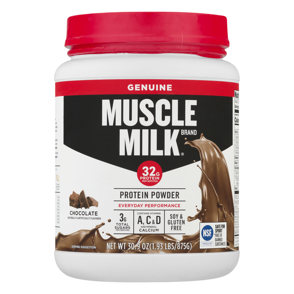 Muscle Milk Protein Supplement Powder Chocolate Soy Gluten Free