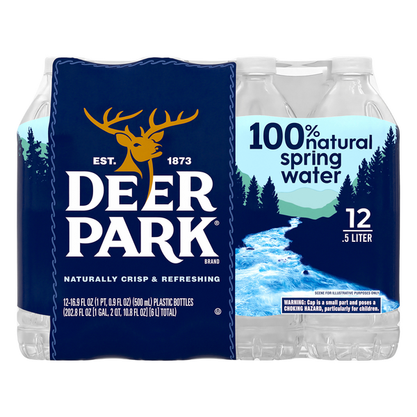 Deer Park 100% Natural Spring Water - 12 pk