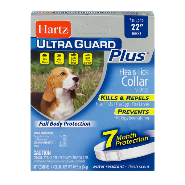 Hartz UltraGuard Plus Flea & Tick Collar for Dogs White Fresh Scent