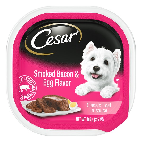 Cesar Classic Loaf in Sauce Dog Food with Smoked Bacon & Egg