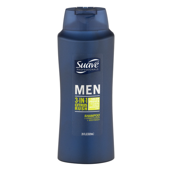 Suave Professionals Men 3-in-1 Citrus Rush Shampoo Conditioner & Body Wash