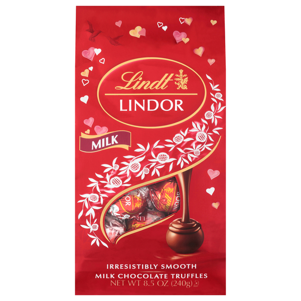 Lindt Lindor Valentine's Truffles Milk Chocolate with a Smooth Filling