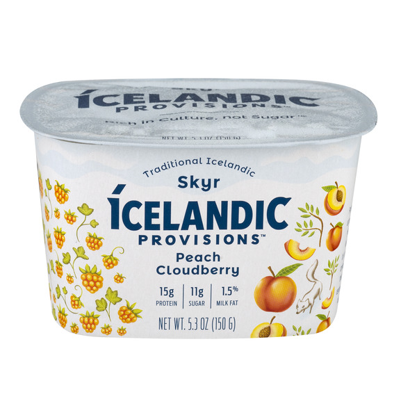 Icelandic Provisions Traditional Icelandic Skyr Peach Cloudberry