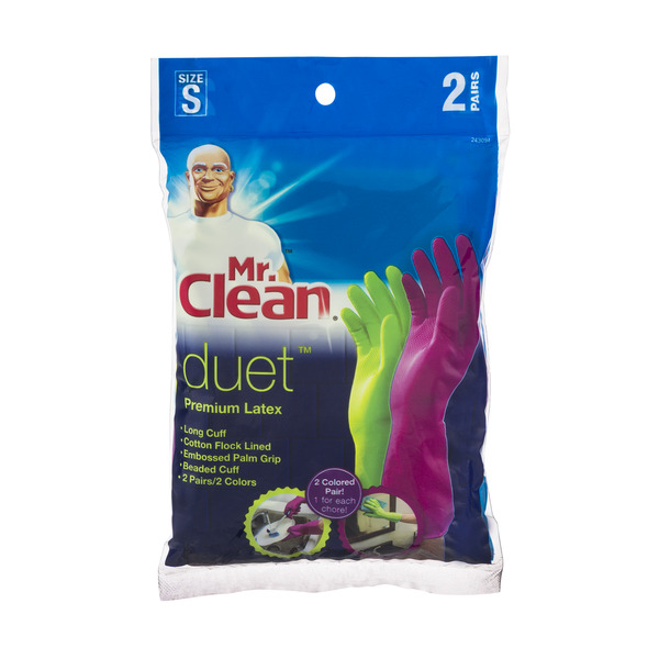 Mr. Clean Duet Gloves Premium Latex Small