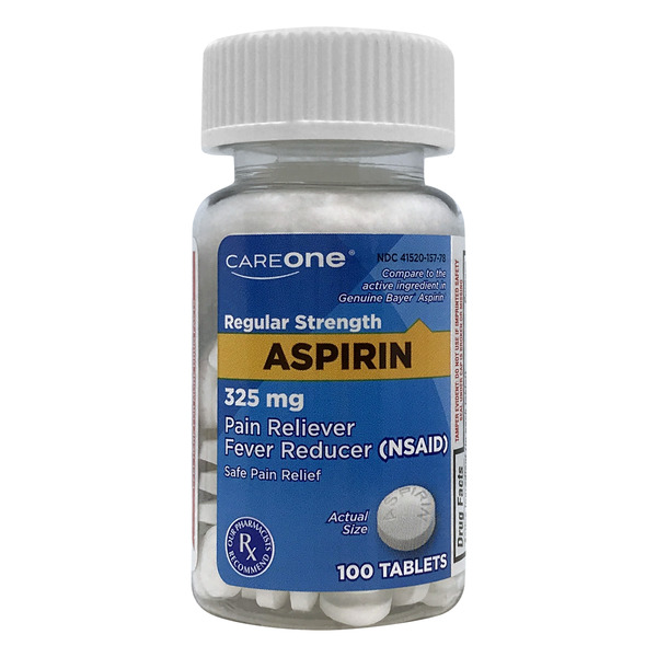 CareOne Aspirin Pain Relief Regular Strength 325 mg Tablets