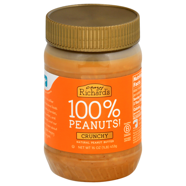 Crazy Richard's Peanut Butter Crunchy 100% Natural