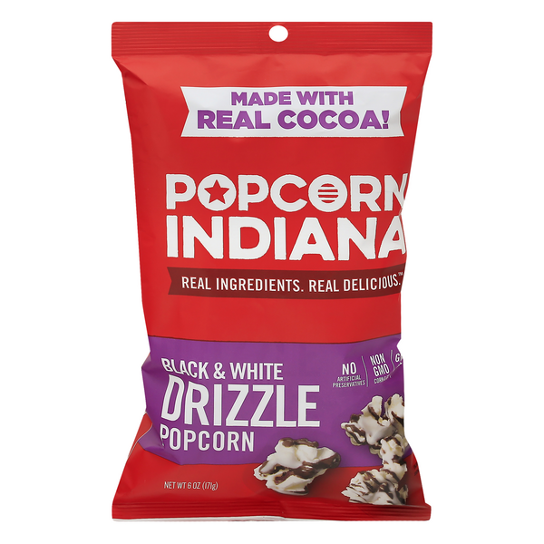 Popcorn, Indiana Drizzlecorn Black & White Kettlecorn All Natural